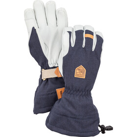 Hestra M's Army Leather Patrol Gauntlet 5-vinger Handschoenen, navy